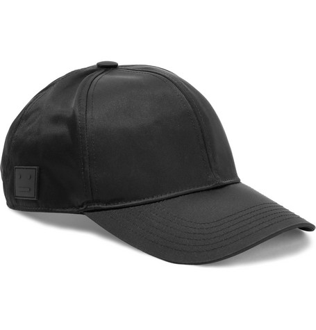 Camp Satin-twill Baseball Cap - Black