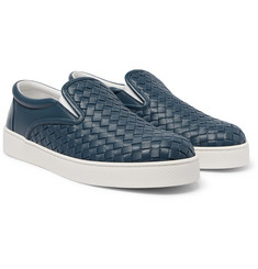 Bottega Veneta - Dodger Intrecciato Leather Slip-On Sneakers