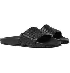Bottega Veneta - Intrecciato Leather Slides