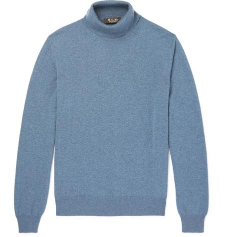 Fit Piana Cashmere Rollneck Slim Sweater Blue Baby Loro EBwdqxzq