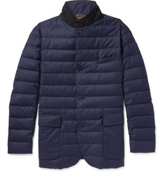 Loro Piana Roadster Rain System Wool and Silk-Blend Down Jacket