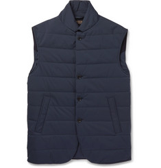 Loro Piana Windstorm Suede-Trimmed Quilted Shell Gilet