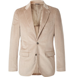 Loro Piana Beige Andorra Slim-Fit Stretch-Cotton and Cashmere-Blend Corduroy Blazer