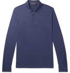 Loro Piana - Silk and Cotton-Blend Jersey Polo Shirt