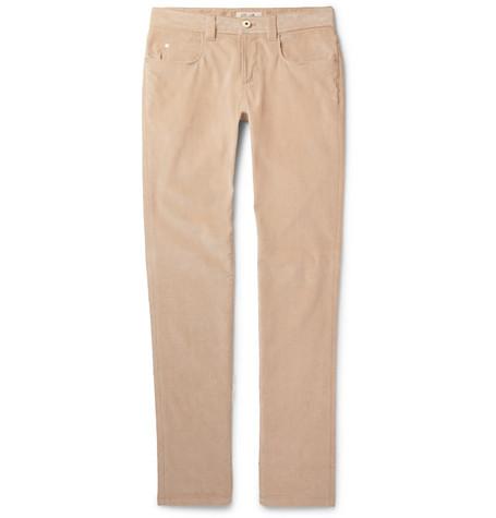 Slim-fit Stretch-cotton Corduroy Trousers Loro Piana Free Shipping Prices Low Cost Finishline Online UjC4xZZbu