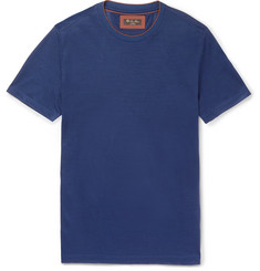 Loro Piana Contrast-Tipped Virgin Wool-Piqué T-Shirt