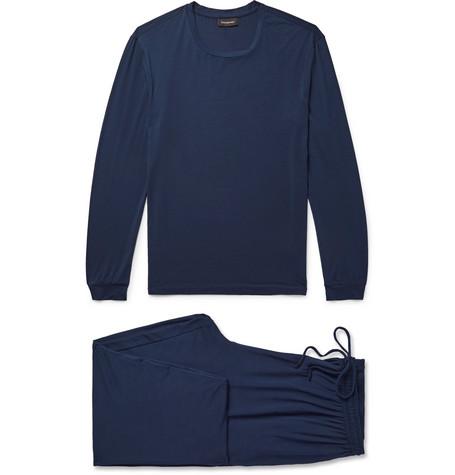 Stretch Modal Blend Pyjama Set by Ermenegildo Zegna