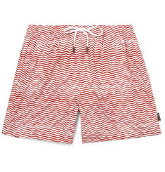 Ermenegildo Zegna - Mid-Length Printed Swim Shorts