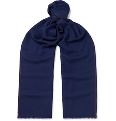 Loro Piana Super Wish Fringed Virgin Wool-Twill Scarf