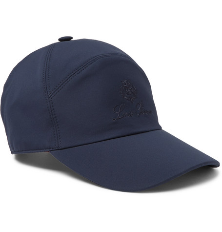 Loro Piana Storm System Shell Baseball Cap In Blue