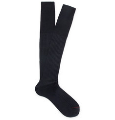 Loro Piana Ribbed Cashmere and Silk-Blend Socks
