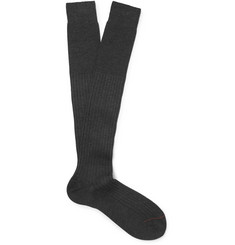 Loro Piana - Ribbed Cashmere and Silk-Blend Socks
