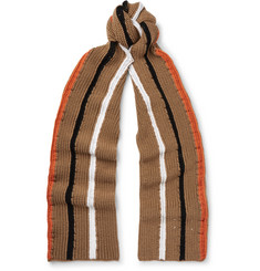 Maison Margiela Striped Wool Scarf