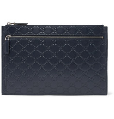 Gucci Avel Logo-Embossed Leather Pouch