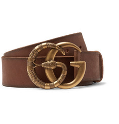 Gucci - 4cm Tan Burnished-Leather Belt