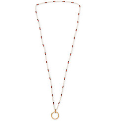 Gucci Beaded Gold-Tone Necklace