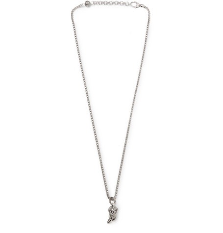 Eagle's Head Sterling Silver Necklace