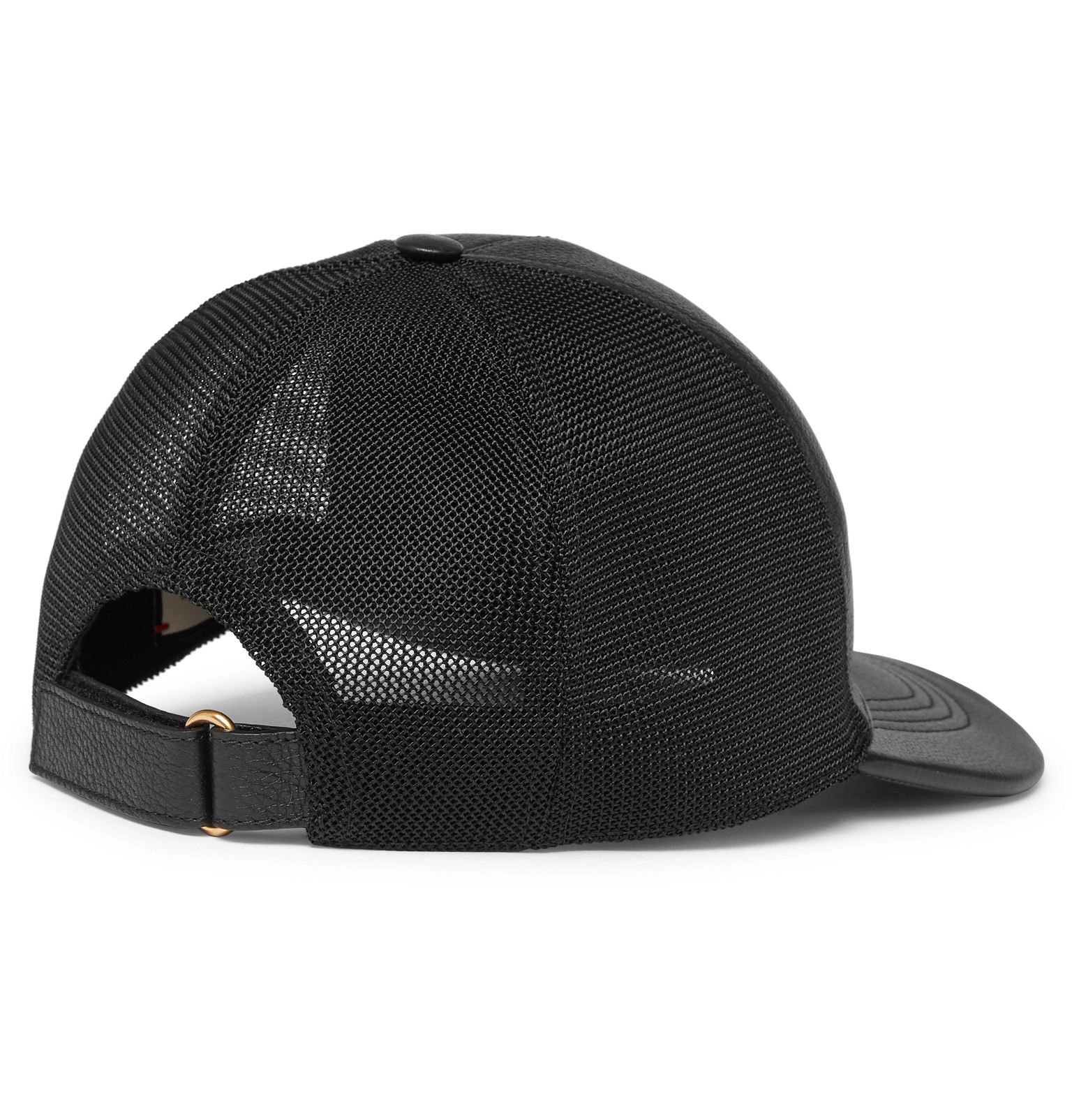 b751d07d1 Gucci - Logo-Print Leather and Mesh Baseball Cap