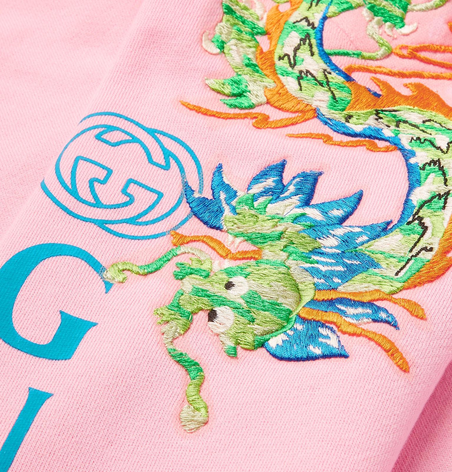d0bbbd37b Gucci - Appliquéd Logo-Print Loopback Cotton-Jersey Hoodie