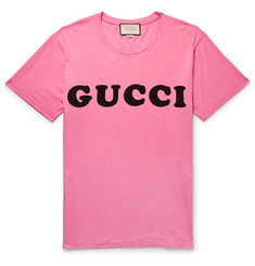 Gucci - Logo-Print Cotton-Jersey T-Shirt