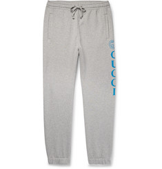 Gucci Tapered Logo-Print Loopback Cotton-Jersey Sweatpants