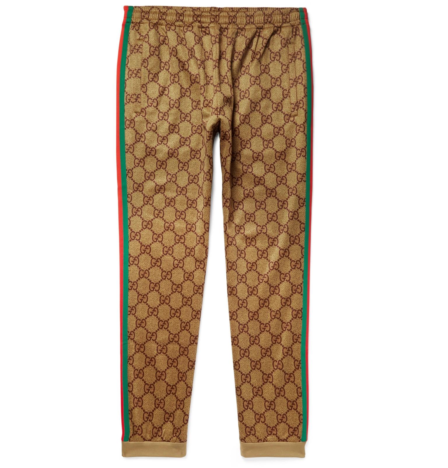 724c5c8afa1cb Gucci - Webbing-Trimmed Logo-Print Tech-Jersey Sweatpants