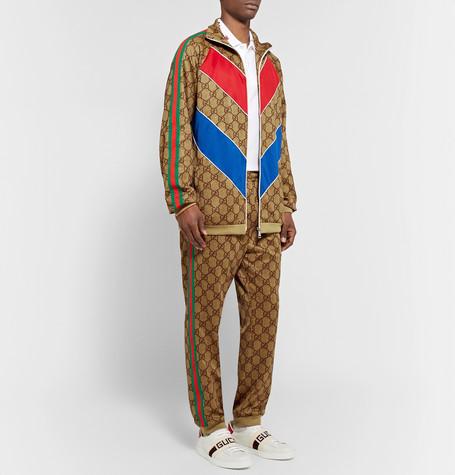 1d4ed47d027 webbing-trimmed-logo-print-tech-jersey-sweatpants by gucci