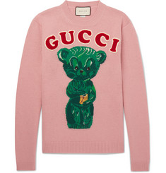 Gucci - Appliquéd Intarsia Wool Sweater