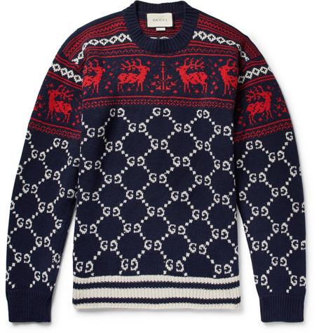 5e27ec957bf Gucci - Fair Isle Jacquard-Knit Wool Sweater
