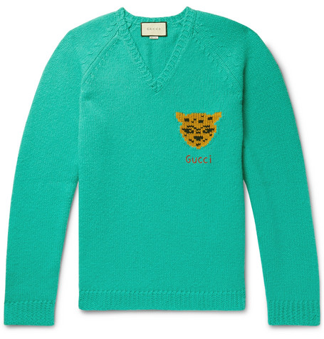 52149110 Gucci - Oversized Intarsia Wool Sweater