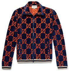 9b1f53b2fd631 Gucci Cotton Devoré-Velvet Track Jacket