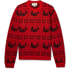 Gucci - Fair Isle Jacquard Wool and Alpaca-Blend Sweater