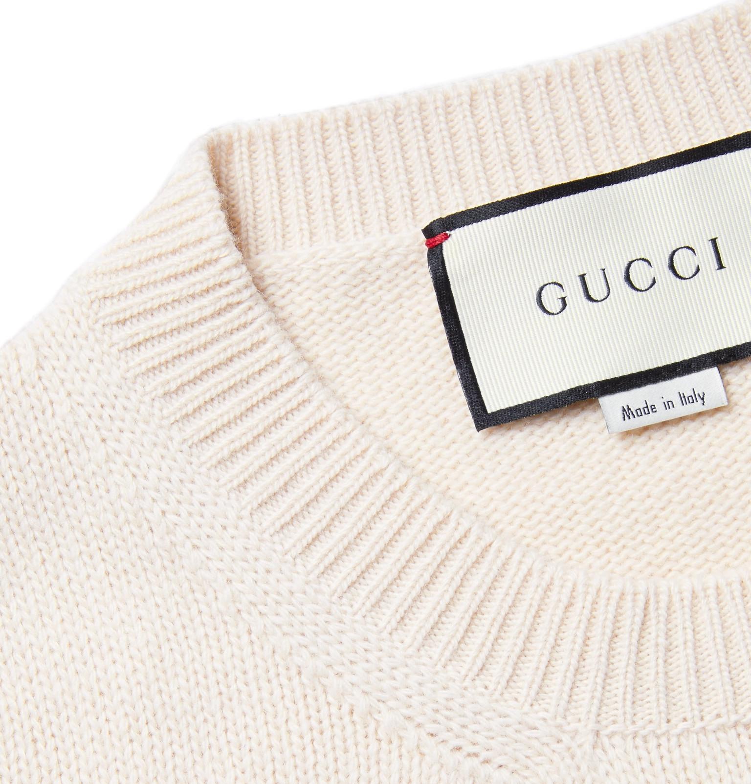 57909e39c0ff3 Gucci - Shark-Intarsia Wool Sweater