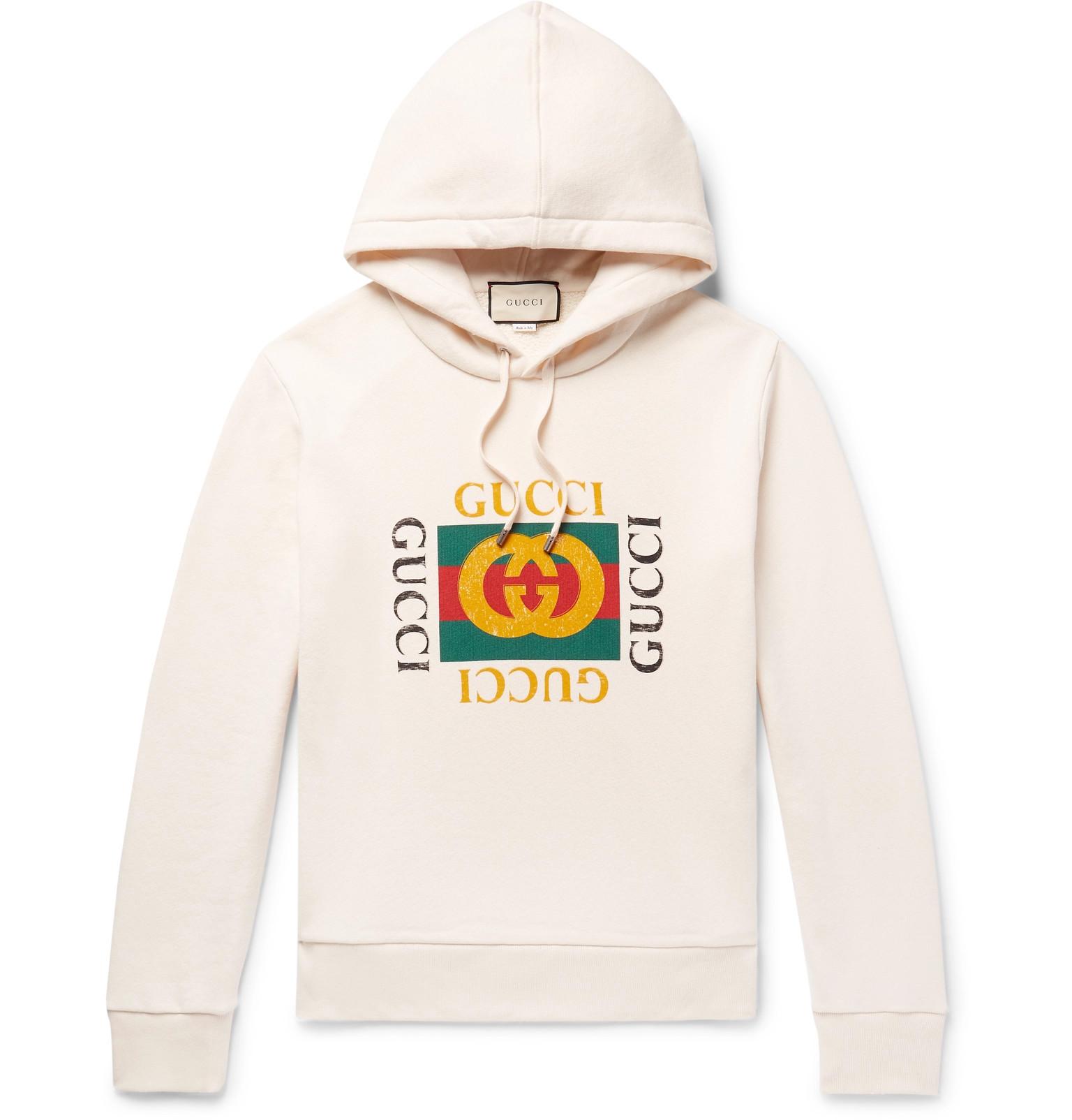 d3b86b3dc65 Gucci - Printed Loopback Cotton-Jersey Hoodie