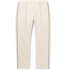 Gucci - Slim-Fit Cropped Piped Cotton-Piqué Drawstring Trousers