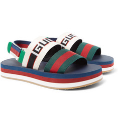 Gucci - Webbing-Trimmed Rubber Sandals
