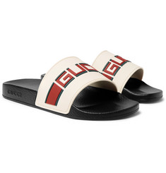 Gucci - Logo-Detailed Rubber Slides