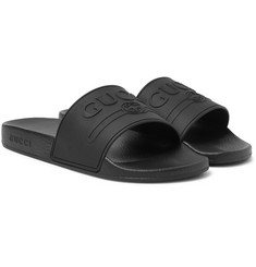 Gucci - Logo-Embossed Rubber Slides
