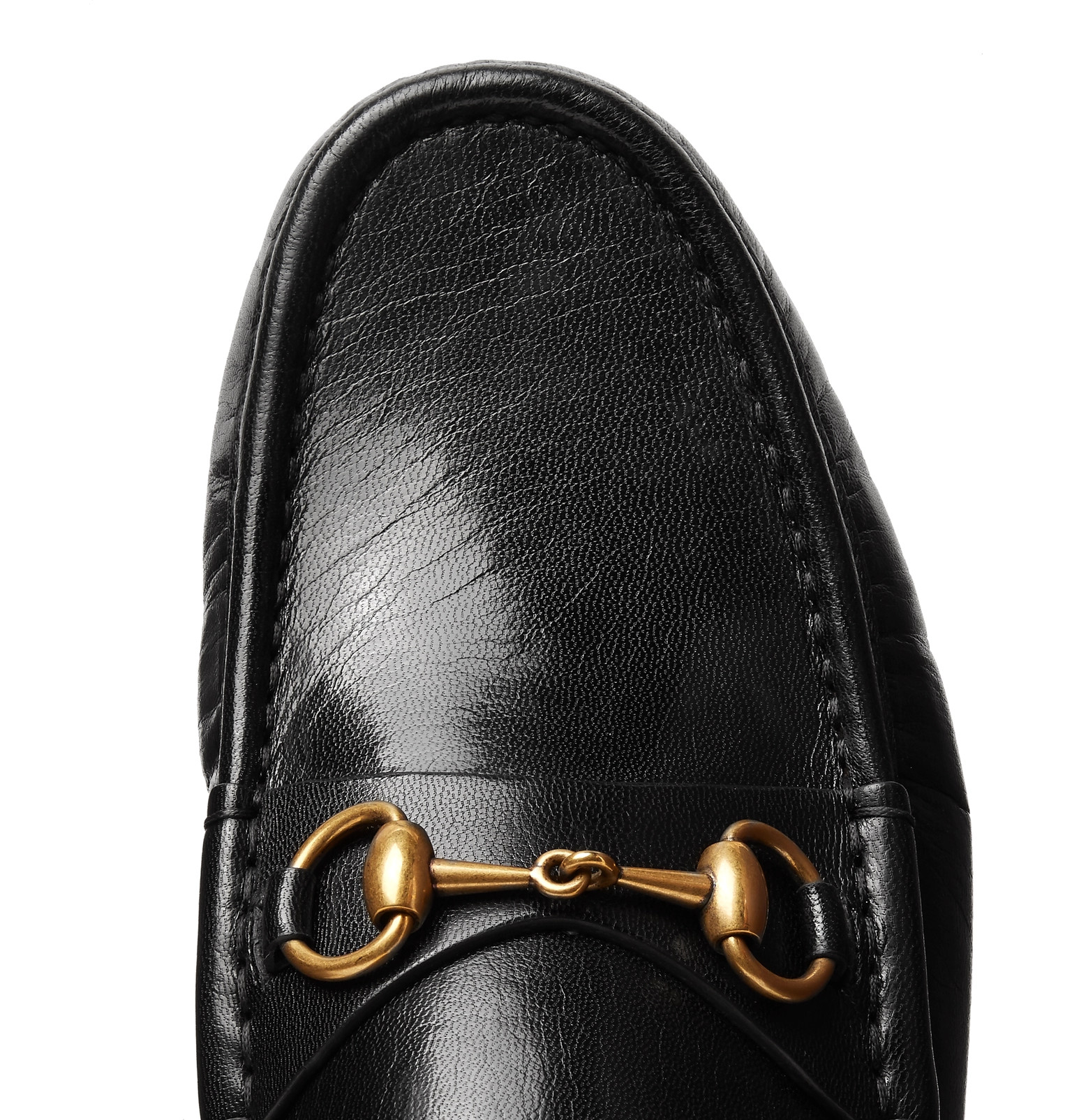b059bc249 Gucci - Open Roos Horsebit Leather Backless Loafers