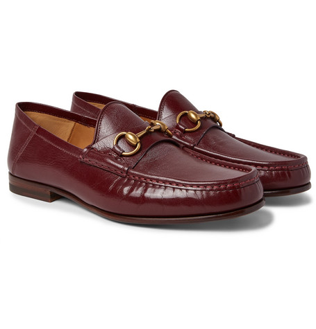 Easy Roos Horsebit Collapsible-heel Leather Loafers