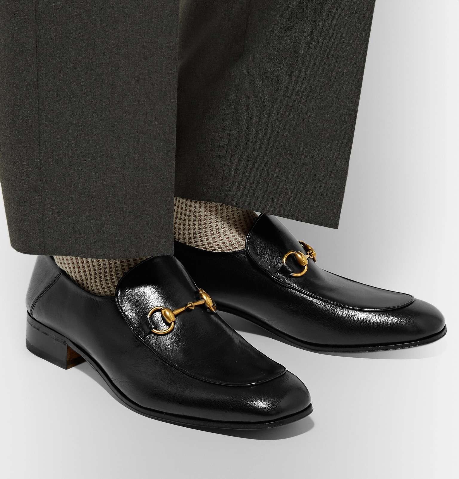 58760b3f6 Gucci - Mister Horsebit Collapsible-Heel Leather Loafers