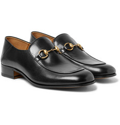 Gucci - Mister Horsebit Collapsible-Heel Leather Loafers