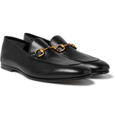 Gucci - Brixton Horsebit Collapsible-Heel Leather Loafers