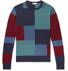 Etro Slim-Fit Colour-Block Wool Sweater