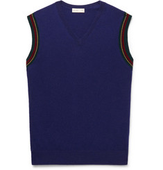 Etro - Contrast-Tipped Wool Sweater Vest