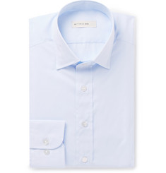 Etro Light-Blue Slim-Fit Striped Cotton-Jacquard Shirt