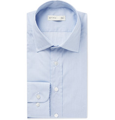 Etro - Blue Slim-Fit Puppytooth Cotton-Poplin Shirt