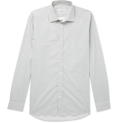 SLIM-FIT PAISLEY-PRINT STRETCH-COTTON POPLIN SHIRT from MR PORTER