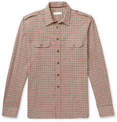 Etro - Slim-Fit Checked Cotton-Twill Shirt