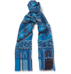 Etro - Paisley-Print Modal, Wool, Silk and Cashmere-Blend Scarf